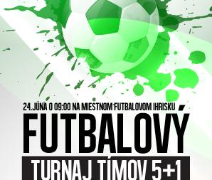 Futbalový turnaj tímov 5+1 – 24. júna 2017