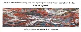 Vernisáž obrazov Jozef Chrena v Moravskom Svätom Jáne